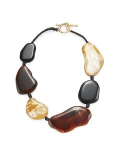 Kenneth Jay Lane Gold Amber Bib Necklace Gold/amber