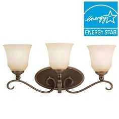 Sea Gull Lighting Parkview 3-Light Russet Bronze Vanity Light