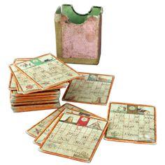 Italian 19th Century Bingo Game  Italy  19th century  30 hand painted tablets.