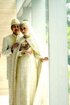 Beautiful muslim wedding dress
