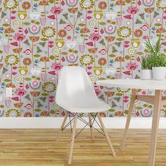 Wallpaper Roll Retro Vintage Mid Century Atomic Starburst Kitsch 24in x 27ft