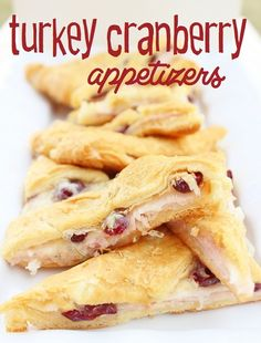 Turkey Cranberry Appetizers. Great for a holiday party. #thanksgiving http://www.highheelsandgrills.com/2012/11/turkey-cranberry-appetizers.html