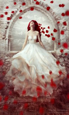 Rouge Sensation by fatal-kitty on DeviantArt Gothic Fantasy Art, Dream Fantasy, Fantasy Photography, Photography Women, Deep Photos, Indie Dance, Magical Pictures, Beautiful Dark Art, Red Aesthetic