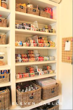 bins and baskets.  Great idea
