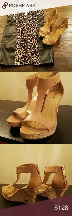 Michael Kors Cream Wedges , New never worn Michael Kors Shoes Wedges