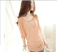 Shop online for Korean Blouse in Fashion Korean Blouse, Korean Fashion Online, Fashion Sewing, Sammy Dress, T Shirts For Women, Clothes For Women, Half Sleeves, Shirt Style, Womens Fashion