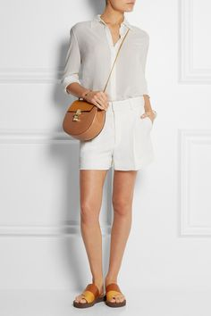 Chloé | Iconic pleated crepe shorts | NET-A-PORTER.COM