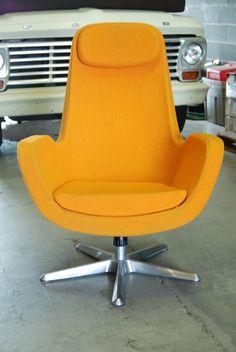 orange mod chair
