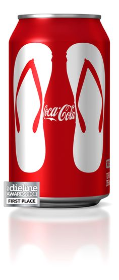 The graphic designed by Turner Duckworth was featured on packaging, in-store displays and select TV spots.  The designs will also be used for summer premiums on everything from t-shirts and bags to boogie boards.  The design also appeared on a series of can packs and shrink wraps, all in celebration of summer's favorite beverage - Coca-Cola.