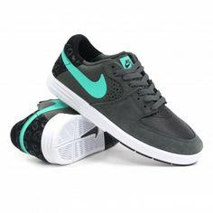 Nike SB Paul Rodriguez 7 (Dark Base Grey/Crystal Mint-Black) Mens Skate Shoes  Ambush Board Co.  $89.99