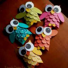 Owl paper crafts!