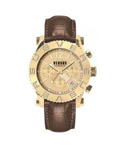 versus versace logo rose goldtone stainless steel bracelet watch versus versace mens gold tone brown leather chronograph watch