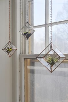 Glass Hanging Planters