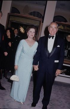 Ambassador  Shirley Temple Black  with her husband, Charles Black, at the White House for a State Dinner.