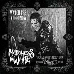"New music video from #motionlessinwhite - ""Devil's Night.""  #infamous."