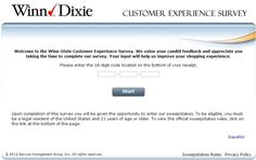Winn-Dixie Customer Experience Survey, www.winn-dixiesurvey.com