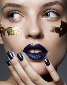 Glitter nails nail trend fall / winter 2016 - Fashionchick
