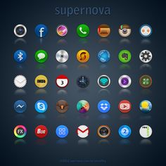 Supernova icon pack for Adnroid phones or iPhone. Icon size is Pack contain 19 icons: - Bluetooth - Calendar - Camera - CD - Contacts - eBuddy - . Android Icons, Free Android, Screen Icon, Tech Toys, Cool Tech, Icon Pack, So Little Time, Icon Set, Icon Design
