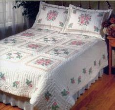 embroidered quilt - Google Search