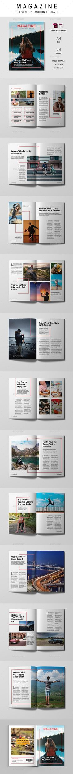 Buy Magazine Template by xtratimebd on GraphicRiver. Multipurpose Magazine Template, This can be used for Lifestyle, Fashion, Travel or any others purpose. Super simple t. Cool Magazine, Print Magazine, Magazine Layout Design, Magazine Template, Print Templates, In This Moment, Lifestyle Fashion, Super Simple