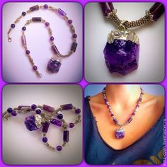 The necklace is made form purple amethyst. Perfect for both casual and samrt look #amethyst  #purple #necklace