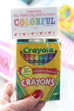 FREE Printable Valentines Day Cards (Crayons FREE Printable Valentines Day Cards you can print from home and have your little ones give out to their friends this year! This is the perfect homemade Valentine to pair with a box of crayons! Kinder Valentines, Valentine Gifts For Kids, Homemade Valentines, Valentine Day Crafts, Valentine Ideas, Valentine Wreath, Valentine Box, Walmart Valentines, Valentine's Day Quotes