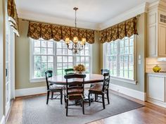 Transitional Window Treatments Dining Design Ideas, Pictures, Remodel and Decor