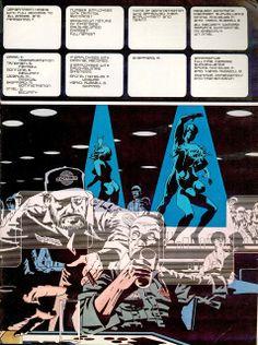 18 Jim Steranko, Comic Book Artists, Comic Books Art, Comic Page, Drawing Tips, Outlander, Composition, Layouts, Comics