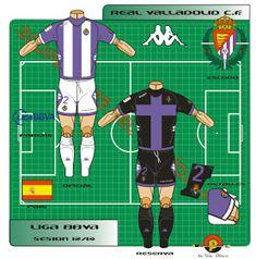 Real Valladolid of Spain kits for Football Kits, Spain, Logos, Shirt, Soccer Kits, Soccer Equipment, Dress Shirt, Sevilla Spain, Logo