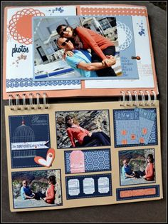 2 pages with lots of details Album, Lets Celebrate, Polaroid Film, Scrapbook, Detail, Souvenir, Scrapbooking, Card Book, Guest Books