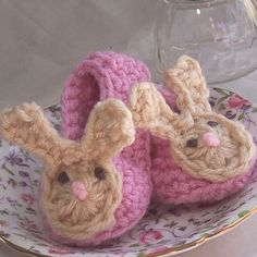 bunny baby slipper crochet pattern