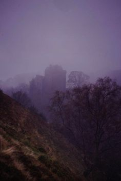 Castle Campbell in the mist. This photo feels like the beginning of a story... #Scotland #castles #atmosphere