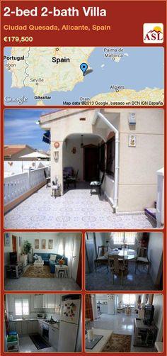 2-bed 2-bath Villa in Ciudad Quesada, Alicante, Spain ►€179,500 #PropertyForSaleInSpain