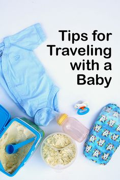 Tips for traveling with a baby including what to pack (extra diapers, store brand formula, wipes, toys, change of clothes, bottle) and what to expect while flying with a baby. Sponsored by Store Brand Formula.