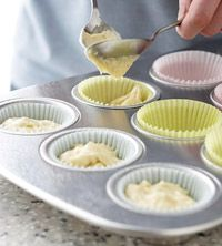 How to Convert a Cake Recipe into Cupcakes (A two-layer butter-style cake usually makes 24 to 30 cupcakes.)