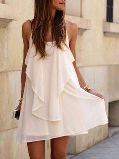 Loving this little white dress!