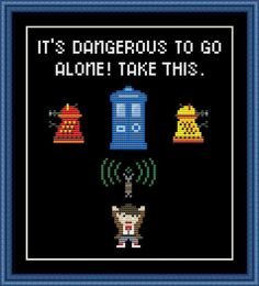 (10) Name: 'Embroidery : Doctor Who Funny Cross Stitch Pattern