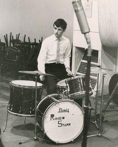 Ringo Starr at EMI studios, 1962