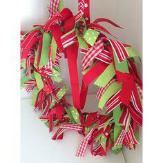 Ribbon wreath Christmas Ribbon, Noel Christmas, Christmas Wreaths, Grosgrain Ribbon, Holiday Decor, Home Decor, Merry Christmas Love, Christmas Garlands, Homemade Home Decor