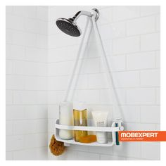 Buy the Umbra 023475 660 White Direct. Shop for the Umbra 023475 660 White Flex 24 Inch Tall Polypropylene Shower Caddy with Single Shelf and save. Shower Shelves, Bathroom Shelves, Bathtub Shower, Shower Doors, Bathroom Storage, Small Bathroom, Bathrooms, Bathroom Repair, Bathroom Stall