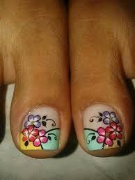 Resultado de imagen para deko uñas para pies Pedicure Designs, Toe Nail Designs, Nails Design, Cute Pedicures, Manicure And Pedicure, French Pedicure, New Nail Art, Nail Arts, Toe Nails