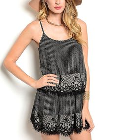 Love this Black & White Lace Top & Skirt on #zulily! #zulilyfinds