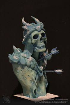 Creature Design - Traditionally sculpted in clay and cast in resin, this Frost Wight has been painted in acrylic washes. Sculptures, Lion Sculpture, Model Maker, Live Events, Creature Design, A Team, Filmmaking, Frost, Sculpting