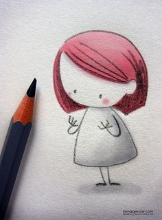 hands by Bengi Gençer Cute Girl Illustration, Character Illustration, Graphic Illustration, Art Sketches, Art Drawings, Watercolor Drawing, Cover Art, Illustrators, Art Projects