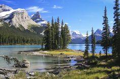 Maligne Lake in Jasper National Park / 60 prachtige plaatsen om te zien in Canada