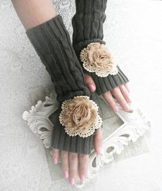 STORMY DAY vintage Victorian arm warmers by TheVictorianGarden, $22.00