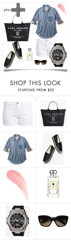 """""""Plus Size Outfit 005"""" by chinkie28 ❤ liked on Polyvore featuring Frame, Marc Jacobs, Hollister Co., MICHAEL Michael Kors, Jo Malone, G-Shock and Bottega Veneta"""