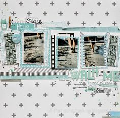 #papercraft #scrapbook #layout    All That Scrap: walk with me