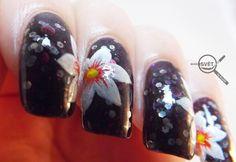 Mikrosvet by Ellen: NAIL ART: White flower with Beyond White Flowers, Nail Art, Nails, Finger Nails, Ongles, Nail, Nail Art Designs, Nail Arts, Nail Manicure