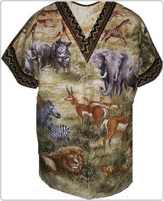 Selectively African Animal print scrubs